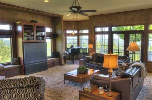 Family Room With Windows